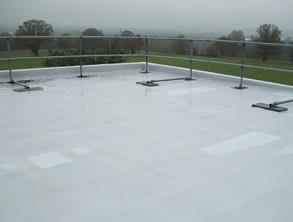 Leaking roof protected using Belzona 3111 (Flexible Membrane)