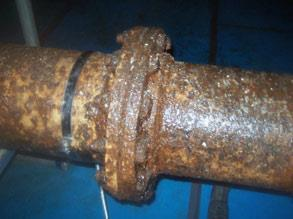 Aging gas pipes at crisp manufacturing plant
