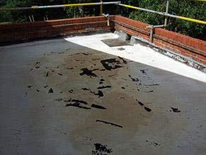 Deteriorated  roof resulting in water ingress