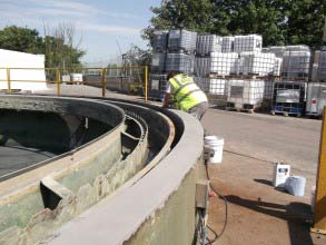 Belzona 4131 (Magma-Screed) used to rebuild the concrete